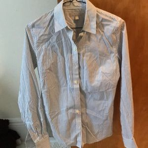 Banana Republic Non-Iron Fitted Shirt striped